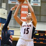Timea Toth. UTEP women beat UTSA 85-59 on Thursday at the UTSA Convocation Center. - photo by Joe Alexander