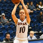 Karley Larson. UTSA lost to Louisiana Tech on Thursday at the UTSA Convocation Center in the Roadrunners' final women's basketball game of the season. - photo by Joe Alexander