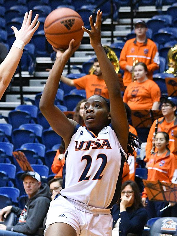 Ceyenne Mass. UTSA lost to Louisiana Tech on Thursday at the UTSA Convocation Center in the Roadrunners' final women's basketball game of the season. - photo by Joe Alexander