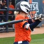 Celeste Loughman's grand slam ended UTSA's 9-1 victory over North Texas on Saturday. - photo by Joe Alexander