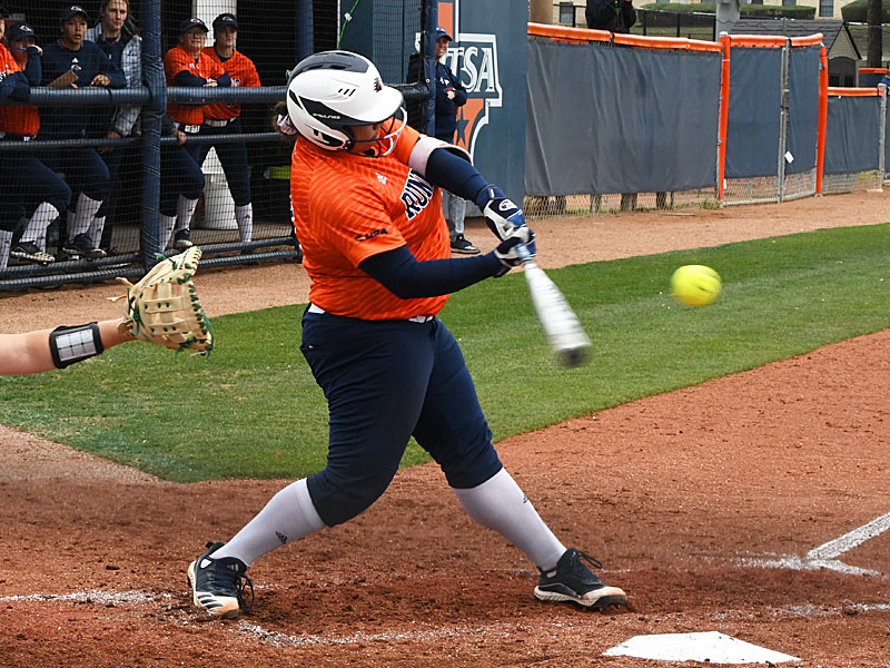 Madison Washington hit a two-run homer in the third inning for UTSA's first runs of the game in Saturday's victory over North Texas. - photo by Joe Alexander
