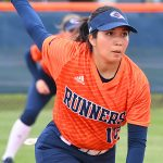 Clarissa Hernandez. beat North Texas 9-1 Saturday at Roadrunner Softball Field. - photo by Joe Alexander