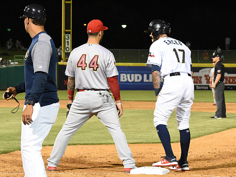 The Missions scored two runs in the bottom of the ninth inning in a 6-5 victory over the Memphis Redbirds on April 9, 2019 in the first Triple-A game in San Antonio history. - photo by Joe Alexander