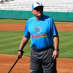 Flying Chanclas de San Antonio manager John McLaren at practice on Thursday at Wolff Stadium. - photo by Joe Alexander