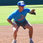 Taking infield at Flying Chanclas practice on Thursday at Wolff Stadium. - photo by Joe Alexander