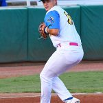 Conner Shepherd of the Flying Chanclas de San Antonio playing against the Acadiana Cane Cutters at Wolff Stadium on Friday, July 3, 2020. - photo by Joe Alexander