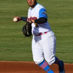 Johnny Hernandez of the Flying Chanclas de San Antonio playing against the Acadiana Cane Cutters at Wolff Stadium on Friday, July 3, 2020. - photo by Joe Alexander