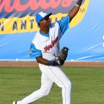 Flying Chanclas de San Antonio outfielder Porter Brown playing against the Acadiana Cane Cutters on Friday, July 3, 2020, at Wolff Stadium. - photo by Joe Alexander