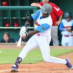Flying Chanclas de San Antonio outfielder Porter Brown playing against the Acadiana Cane Cutters on Saturday, July 4, 2020, at Wolff Stadium. - photo by Joe Alexander