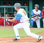 Conner Shepherd of the Flying Chanclas de San Antonio playing against the Acadiana Cane Cutters at Wolff Stadium on Sunday, July 5, 2020. - photo by Joe Alexander
