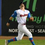 Jordan Thompson of the Flying Chanclas de San Antonio playing against the Acadiana Cane Cutters at Wolff Stadium on Sunday, July 5, 2020. - photo by Joe Alexander
