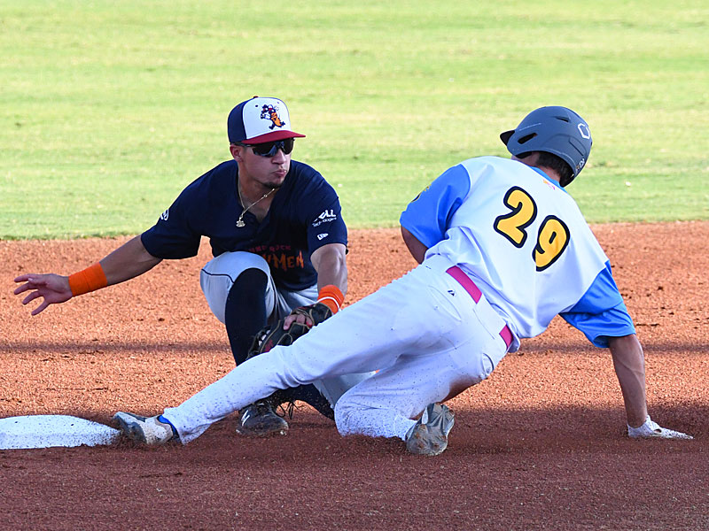 Leyton Barry from UTSA playing for the Flying Chanclas at Wolff Stadium during the 2020 Texas Collegiate League season. - photo by Joe Alexander