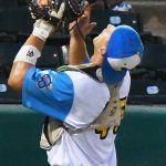 Tyler LaRue playing for the Flying Chanclas at Wolff Stadium during the 2020 season. - photo by Joe Alexander