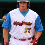 Flying Chanclas first baseman Ryan Flores playing against the Brazos Valley Bombers at Wolff Stadium on July 22, 2020. - photo by Joe Alexander