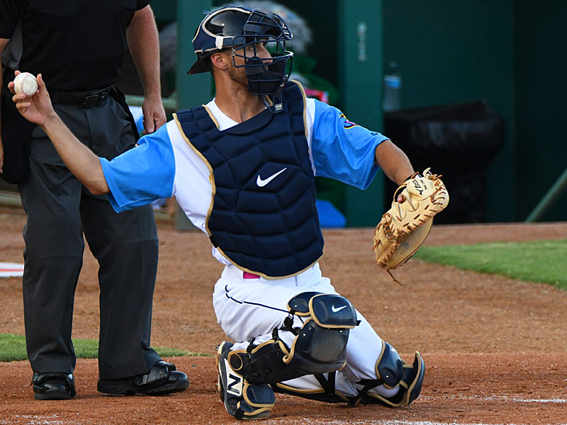 Eric Cervantes playing for the Flying Chanclas at Wolff Stadium. - photo by Joe Alexander