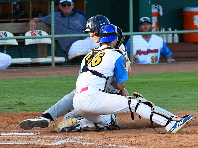Nick Wolff playing for the Flying Chanclas at Wolff Stadium. - photo by Joe Alexander