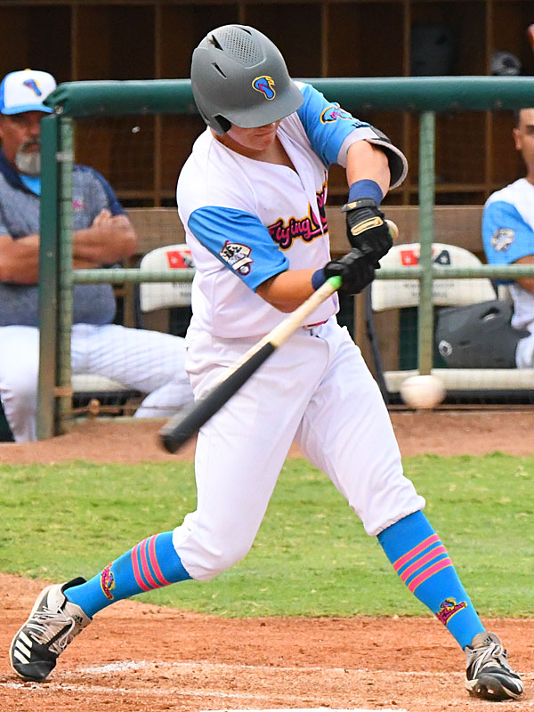 Grant Smith from Incarnate Word playing for the Flying Chanclas at Wolff Stadium. - photo by Joe Alexander