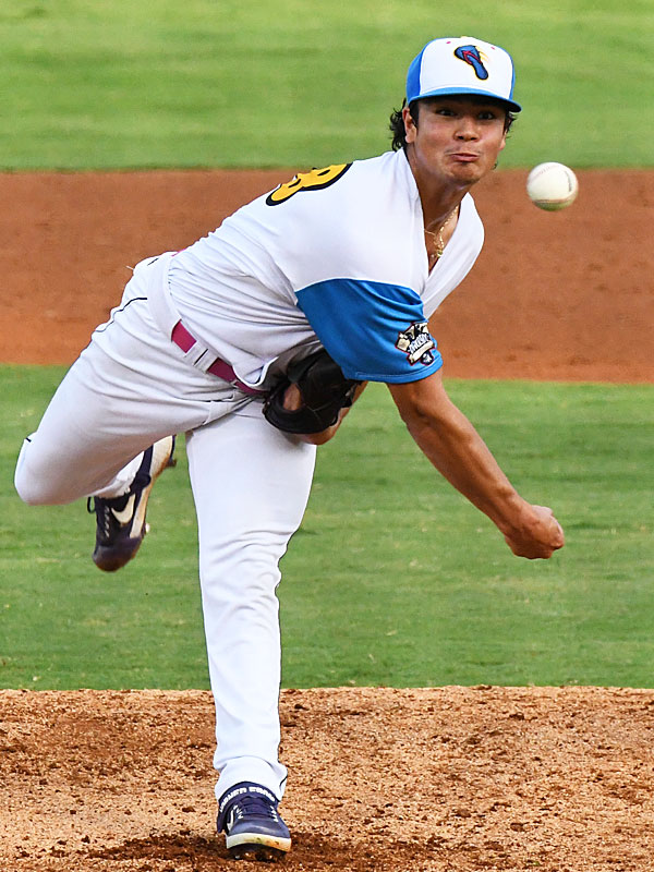 Marcelo Perez pitches for the Flying Chanclas at Wolff Stadium during the 2020 TCL season. - photo by Joe Alexander