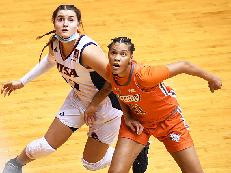Tiffany McGarity from Judson had 4 points, 7 rebounds and 2 steals for UT Rio Grande Valley in a win over UTSA on Monday, Nov. 30, 2020, at the Convocation Center. - photo by Joe Alexander