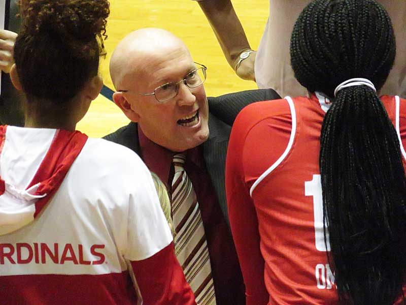Jeff Dow is in his second season at head women's basketball coach at University of the Incarnate Word. - photo by Joe Alexander