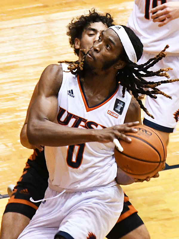 Cedrick Alley Jr. scored seven points in the Roadrunners' season opener, a 97-71 victory over UT Permian Basin. - photo by Joe Alexander