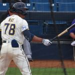 Corey Ray playing for the Milwaukee Brewers during a 2021 spring training game in Phoenix. - photo by Joe Alexander
