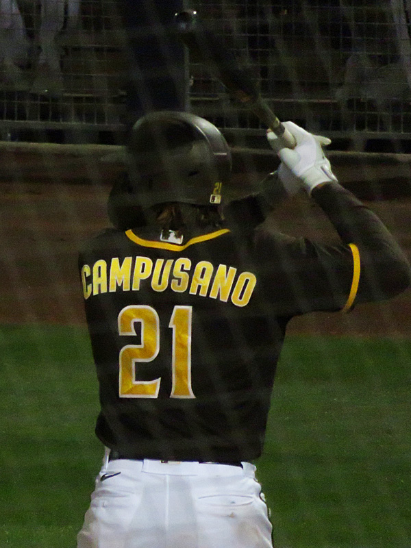 San Diego Padres catcher prospect Luis Campusano playing in a 2021 spring training game in Arizona. - photo by Joe Alexander