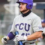 Former Boerne Champion outfielder Luke Boyers playing for TCU against UTSA at Roadrunner Field on March 10, 2021. - photo by Joe Alexander