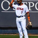 UTSA's Ian Bailey playing against UT-Arlington on Sunday, March 7, 2021, at Roadrunner Field. - photo by Joe Alexander