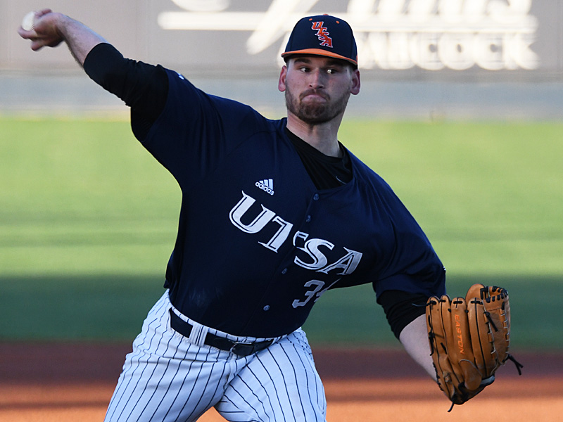 UTSA pitcher Luke Malone allowed one run in the top of the first and held UT-Arlington scoreless for the next six innings after that. - photo by Joe Alexander