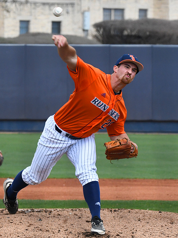 Shane Daughety raised his season record to 2-0 by going the distance in Saturday's seven-inning first game. - photo by Joe Alexander