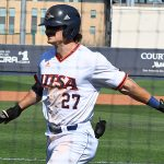 UTSA's Dylan Rock playing against UT-Arlington on March 7, 2021, at Roadrunner Field. - photo by Joe Alexander