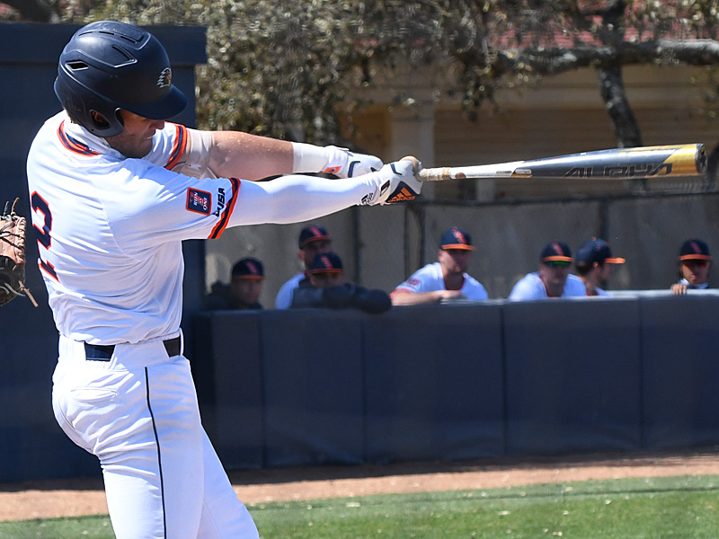 UTSA shortstop Josh Lamb batting against UT-Arlington on March 7 at Roadrunner Field. - photo by Joe Alexander