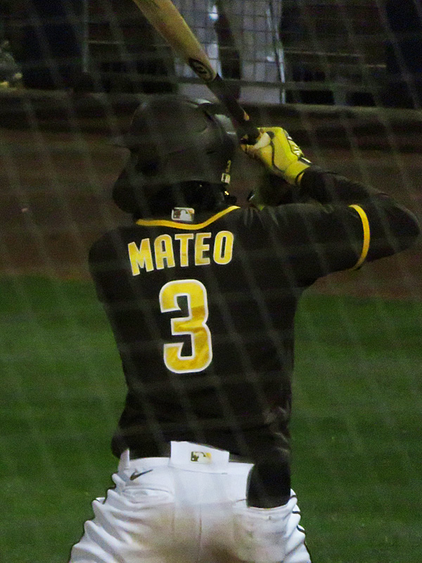 Jorge Mateo playing in a San Diego Padres 2021 spring training game in Peoria, Arizona. - photo by Joe Alexander