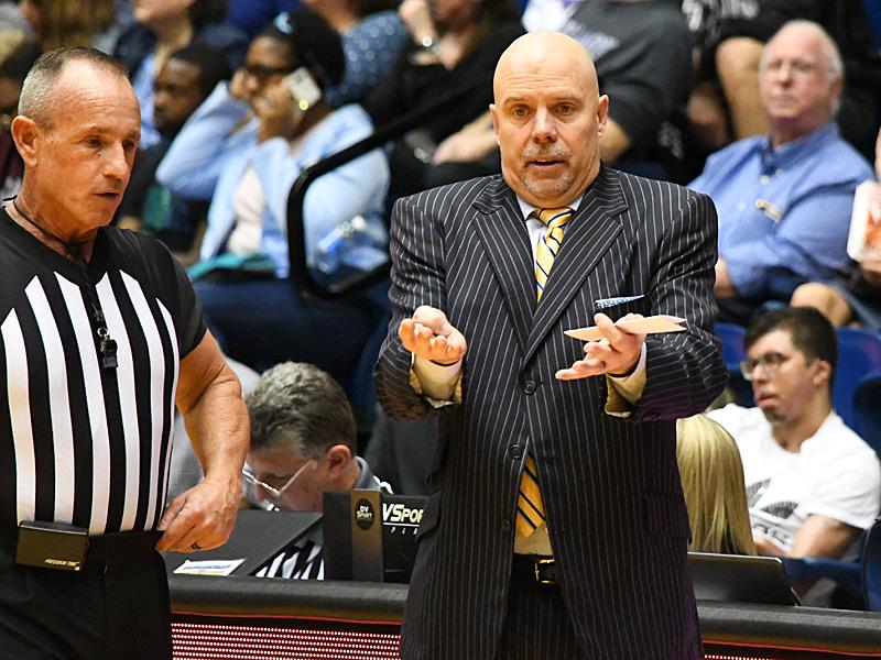 UTSA men's basketball coach Steve Henson at the Convocation Center during the 2019-20 season. - photo by Joe Alexander