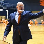 UTSA men's basketball coach Steve Henson at the Convocation Center during the 2020-21 season. - photo by Joe Alexander