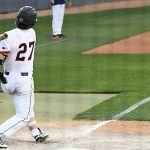 Dylan Rock's grounder in the seventh inning drove in UTSA's first run of Saturday's second game against Middle Tennessee. - photo by Joe Alexander