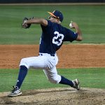 Arturo Guajardo finished the game on the mound and earned the win. UTSA beat Middle Tennessee 7-6 on Friday at Roadrunner Field. – photo by Joe Alexander