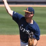Luke Malone pitched 2 2/3 innings in relief and earned the win. UTSA beat Middle Tennessee 15-1 Sunday at Roadrunner Field. - photo by Joe Alexander