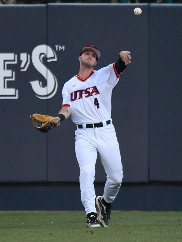 UTSA's Chase Keng playing against Southern Miss on April 1, 2021, at Roadrunner Field. - photo by Joe Alexander