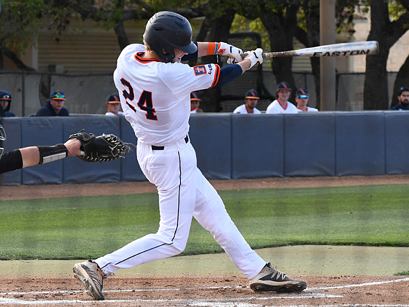 Kyle Bergeron has UTSA's longest current on-base streak at 15 games after a single in the bottom of the first inning against Southern Miss. - photo by Joe Alexander