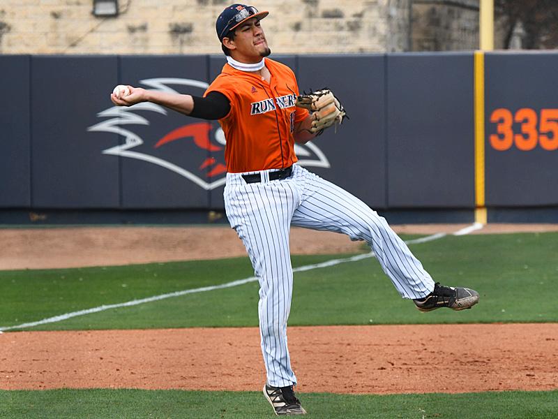 UTSA baseball third baseman Austin Ochoa playing against UT Arlington on March 6.