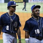 CJ Abrams Eguy Rosario San Antonio Missions Padres by Joe Alexander