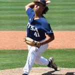 UTSA freshman Daniel Garza pitching against Rice on April 25, 2021, at Roadrunner Field. - photo by Joe Alexander
