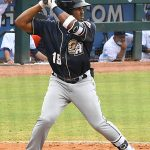 San Antonio Missions infielder Eguy Rosario playing in Corpus Christi against the Hooks on May 4, 2021. - photo by Joe Alexander