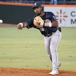 San Antonio Missions infielder Eguy Rosario playing in Corpus Christi against the Hooks on May 5, 2021. - photo by Joe Alexander