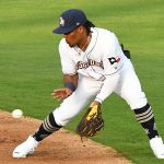 San Antonio Missions infielder Eguy Rosario playing against Frisco on May 18, 2021, at Wolff Stadium. - photo by Joe Alexander