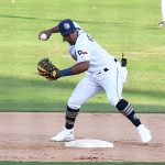San Antonio Missions infielder Eguy Rosario playing against Frisco on May 19, 2021, at Wolff Stadium. - photo by Joe Alexander