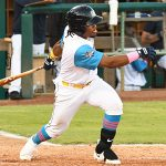 San Antonio Missions infielder Eguy Rosario playing against Frisco on May 20, 2021, at Wolff Stadium. - photo by Joe Alexander