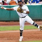 Missions infielder Eguy Rosario playing against Frisco on May 22, 2021, at Wolff Stadium. - photo by Joe Alexander